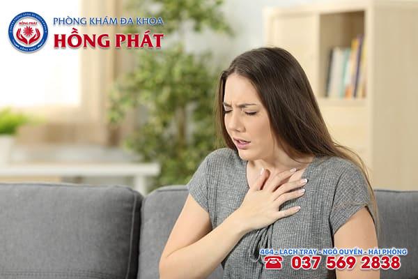 Khi có thai nữ giới sẽ cảm thấy khó thở và hụt hơi