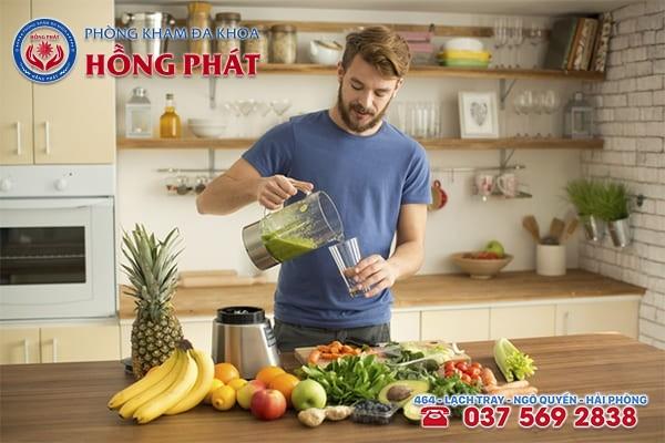 Chế độ dinh dưỡng có vai trò vô cùng quan trọng đối với bệnh lý rối loạn cương dương nam giới