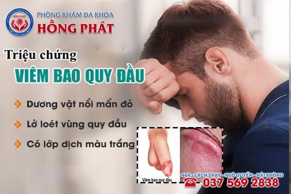 Triệu chứng điển hình của chứng bệnh viêm bao quy đầu