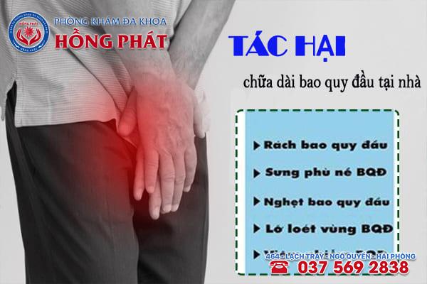 Tác hại khi áp dụng cách chữa dài bao quy đầu không cần phẫu thuật tại nhà