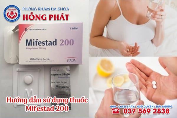 Cách sử dụng thuốc phá thai mifestad 200