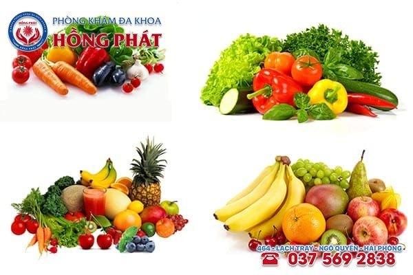 Bổ sung các loại rau củ quả tươi để vết thương nhanh lành