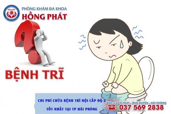 Chi phí chữa bệnh trĩ nội cấp độ 2 tốt nhất tại Tp Hải Phòng