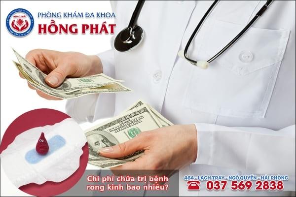 Chi phí chữa trị bệnh rong kinh hiện nay
