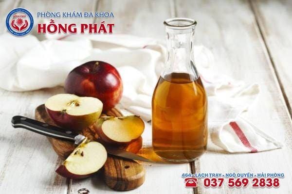 Chữa bệnh lậu bằng dấm táo