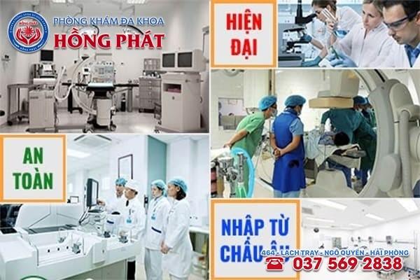 Tại Phòng Khám Hồng Phát có hệ thống máy móc, thiết bị y tế hiện đại