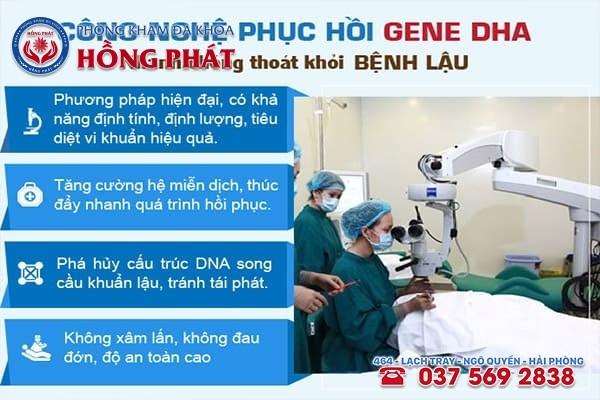 Bệnh lậu được hỗ trợ điều trị hiệu quả bằng phương pháp DHA cải tiến mới