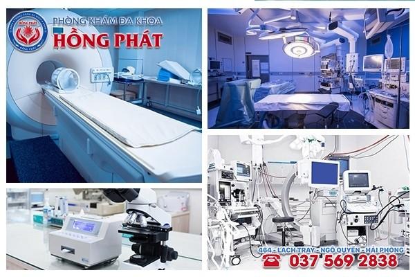 Phòng Khám Hồng Phát có cơ sở vật chất - trang thiết bị y tế, phương pháp điều trị bệnh hiện đại
