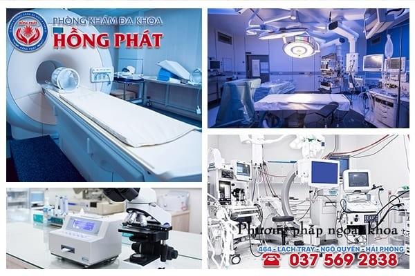 Tại Phòng Khám Hồng Phát đáp ứng đầy đủ về yếu tố máy móc thiết bị y tế chất lượng
