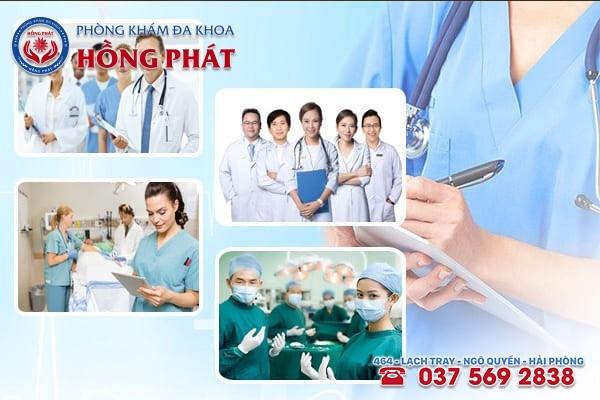 Tại Phòng Khám Hồng Phát sở hữu đội ngũ y bác sĩ chuyên khoa giỏi