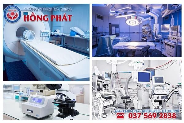 Tại Phòng Khám Hồng Phát  có cơ sở vật chất - thiết bị y tế máy móc đầy đủ, hiện đại mới