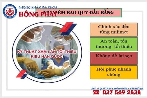 Chữa trị viêm bao quy đầu bằng công nghệ cắt bao quy đầu Hàn Quốc hiệu quả