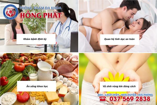 Các cách phòng tránh bệnh viêm vùng kín