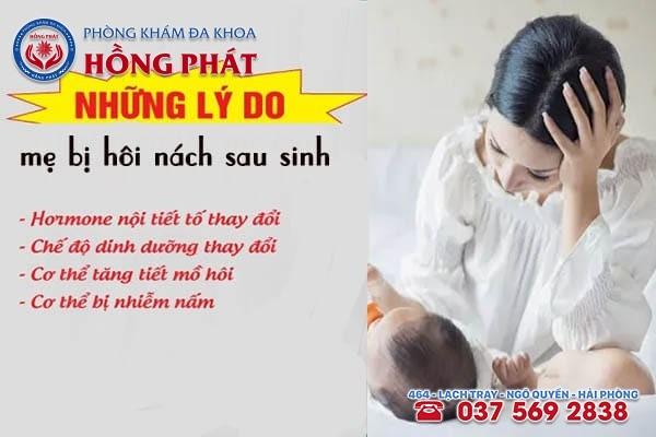 Nguyên nhân gây hôi nách sau sinh ở các mẹ