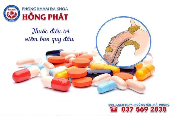 Tình trạng da bao quy đầu bị sưng nhẹ sẽ được điều trị bằng thuốc