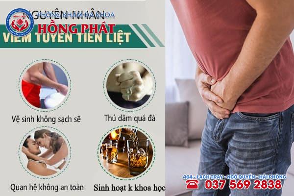 Những nguyên nhân gây ra viêm tuyến tiền liệt ở nam giới