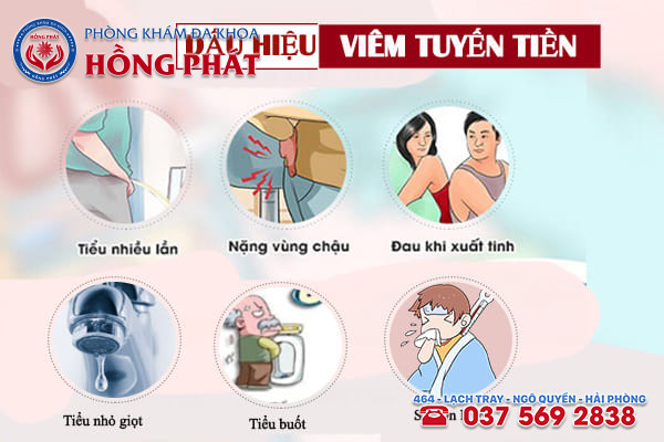 Dấu hiệu nhận biết của bệnh viêm tuyến tiền liệt