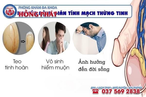 Biến chứng nguy hiểm của bệnh giãn tĩnh mạch thừng tinh