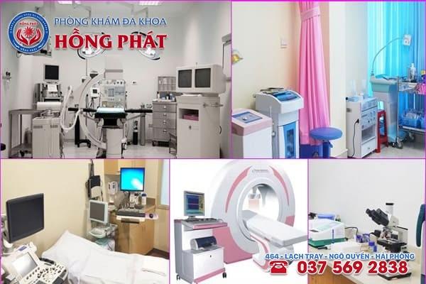 Phòng Khám Hồng Phát Hải Phòng có đầy đủ các trang thiết bị y tế hiện đại tối tân