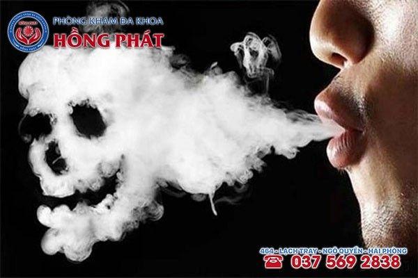 Thuốc lá gây ra tác hại lớn đến số sức sống, chất lượng và cả số lượng tinh trùng