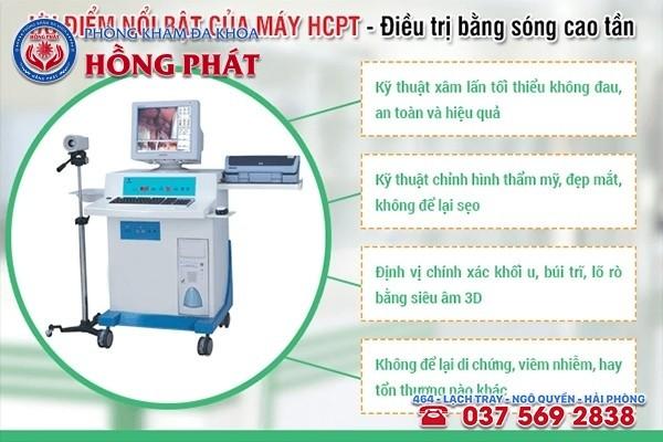 Phòng Khám Hồng Phát áp dụng công nghệ HCPT hiện đại vào khám chữa bệnh