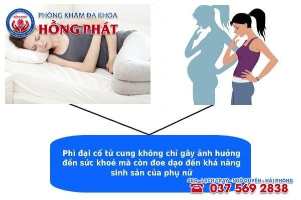 Bệnh phì đại cổ tử cung gây ra nhiều tác hại đến cơ thể người phụ nữ