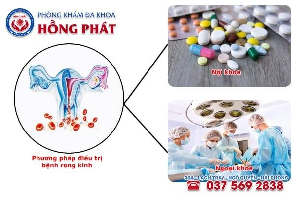 Các phương pháp điều trị bệnh rong kinh ở nữ giới