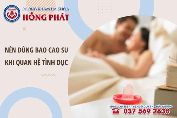 Quan hệ tình dục an toàn để tránh bệnh sinh dục ở nam giới