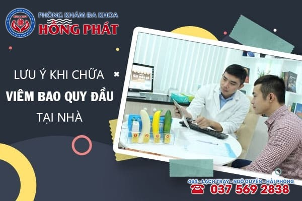 Cách chữa viêm bao quy đầu tại nhà chỉ áp dụng cho trường hợp nhẹ