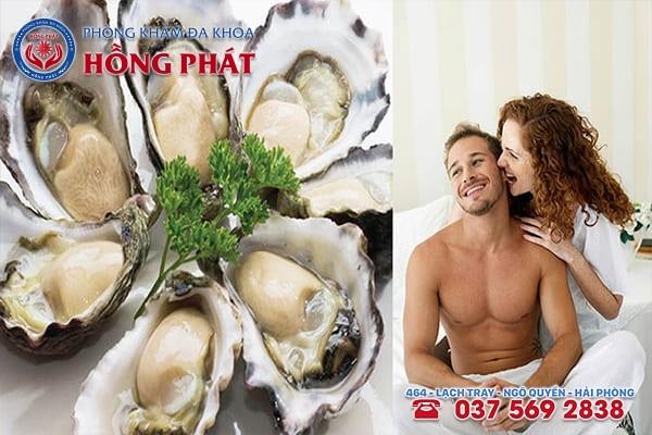 Nam giới có thể nên bổ sung nhiều hải sản như hàu vào thực đơn ăn hàng ngày