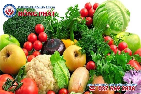 Nên bổ sung nhiều rau xanh, hoa quả cũng rất tốt cho việc tăng kích thích dương vật