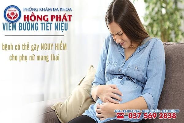 Phụ nữ mang thai chính là đối tượng dễ mắc bệnh viêm đường tiết niệu
