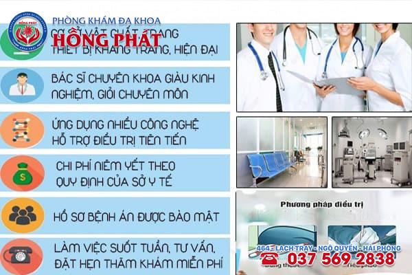 Phòng Khám Hồng Phát Hải Phòng áp dụng cách điều trị nổi mẩn đỏ ở quy đầu hiện đại, hiệu quả