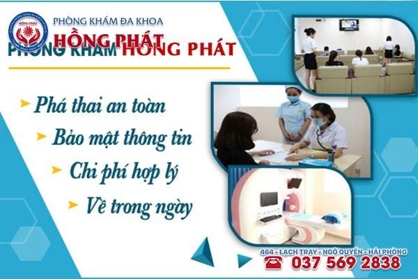 Phòng Khám Hồng Phát - Địa chỉ phá thai an toàn, hiệu quả nhất tại Hải Phòng
