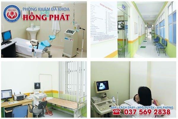 Phòng Khám Hồng Phát có cơ sở vật chất, môi trường trang thiết bị máy móc hiện đại