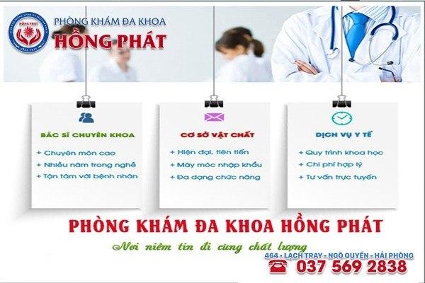 Phòng Khám Đa Khoa Hồng Phát - Đơn vị khám chữa bệnh uy tín chất lượng hàng đầu tại Hải Phòng