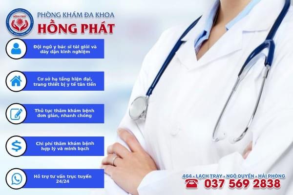 Phòng khám Hồng Phát là địa chỉ khám trị bệnh rối loạn kinh nguyệt tốt nhất hiện nay