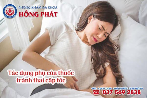 Tác dụng phụ của thuốc tránh thai cấp tốc