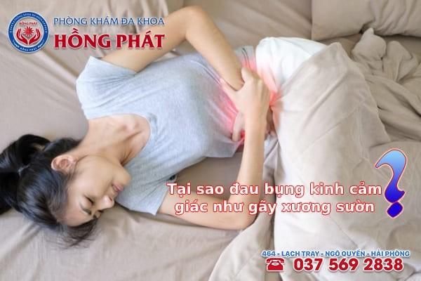 Tại sao đau bụng kinh cảm giác như gãy xương sườn?