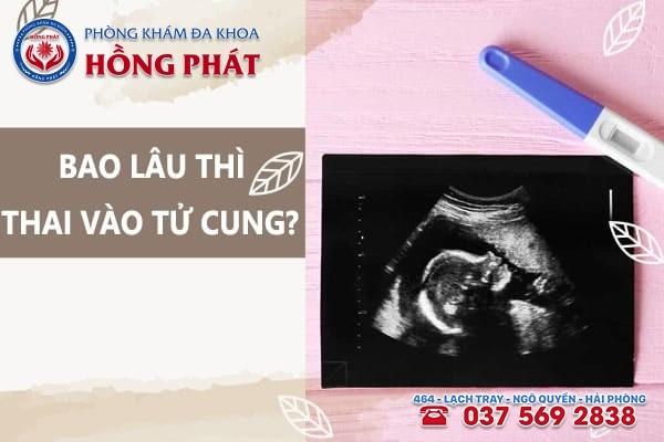 Sau khi thụ thai bao lâu thì thai vào tử cung