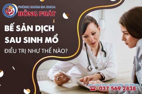 Bế sản dịch sau sinh mổ thường được điều trị bằng cách nong cổ tử cung