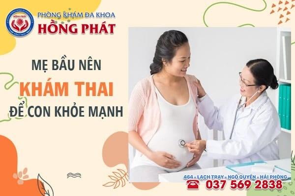 Mẹ bầu cần khám thai định kỳ