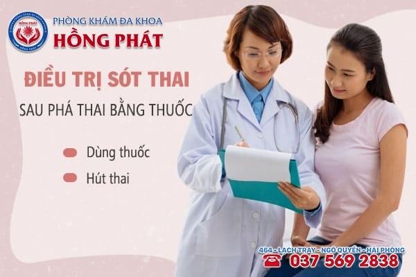 Điều trị sót thai bằng thuốc hoặc hút thai