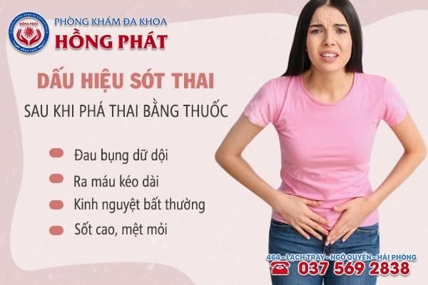 Dấu hiệu sót nhau thai sau khi phá thai bằng thuốc