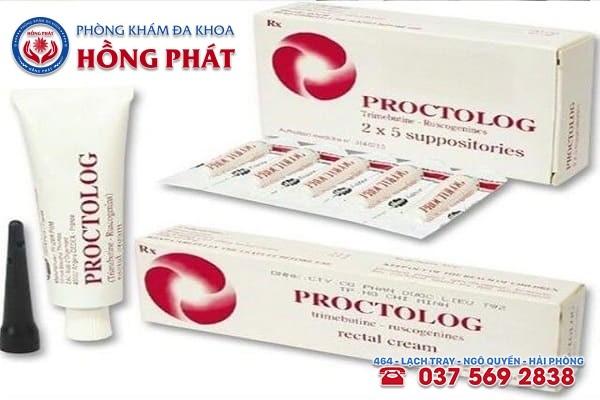 Thuốc proctolog có 2 dạng gồm thuốc bôi và thuốc đặt
