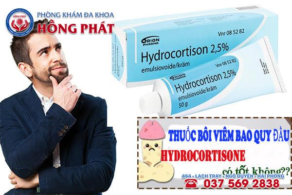 Thuốc bôi viêm bao quy đầu hydrocortisone có tốt không