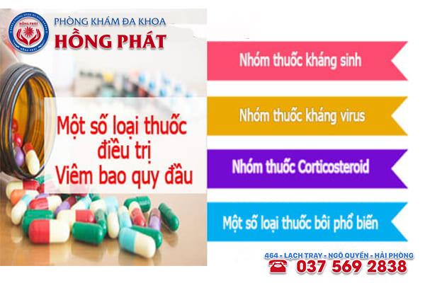Những loại thuốc hỗ trợ điều trị bệnh viêm bao quy đầu