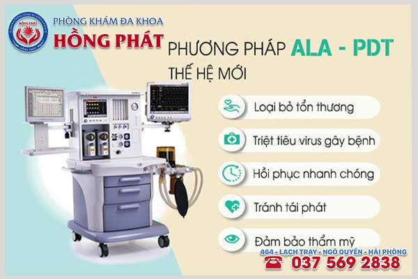 ALA - PDT phương pháp hỗ trợ điều trị sùi mào gà hiện đại mới
