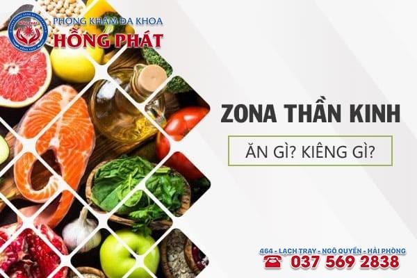 Bệnh zona thần kinh nên ăn gì và kiêng gì?