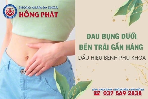 Đau nhói bụng dưới bên trái gần háng ở nữ là dấu hiệu của bệnh gì?